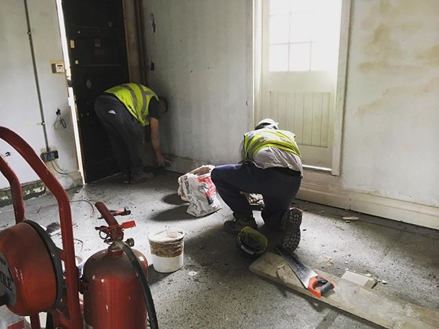 This is the plaster skirtings being repaired on the top floor. This floor is #thenest and will have rooms for homeless young people #HLF #heritage #bristol #socent #hostel @heritagelotteryfund @johnperkinsconstruction