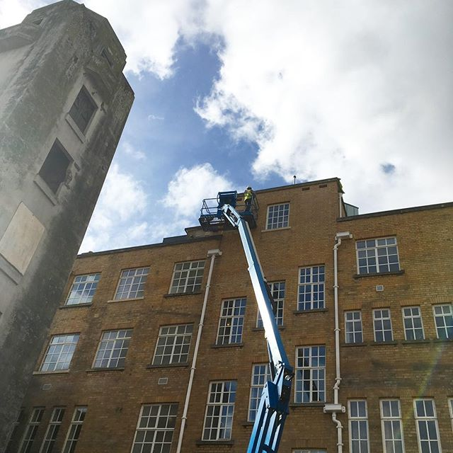 As well as bedrooms for people we're also putting in bedrooms for the local wildlife. That's Ron at the top of that cherry picker - tough builder on the outside but sensitive ecologist on the inside.  He's putting in swift boxes and bat boxes to help increase the biodiversity of the city centre. #bristol #hostel #ymca #ecology #green #biodiversity #socent #charity @johnperkinsconstruction