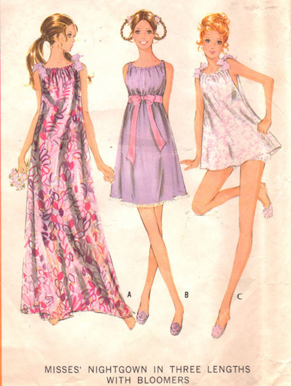 Nightgowns in three lengths