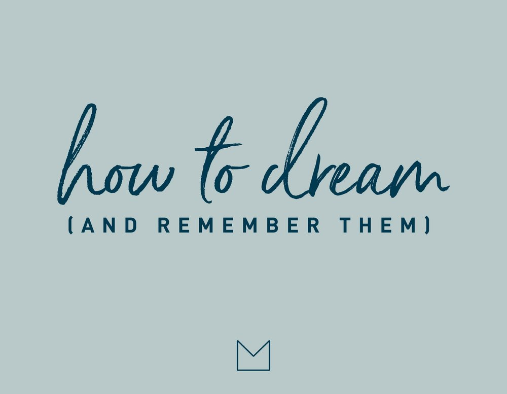 MY LUXURY LINEN MLL How to dream (and remember them!)