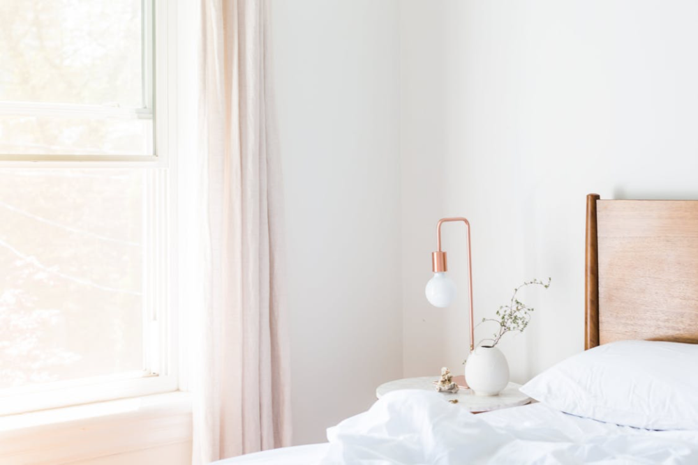 Use Luxury Linen's tip to create a calm, clutter-free space.