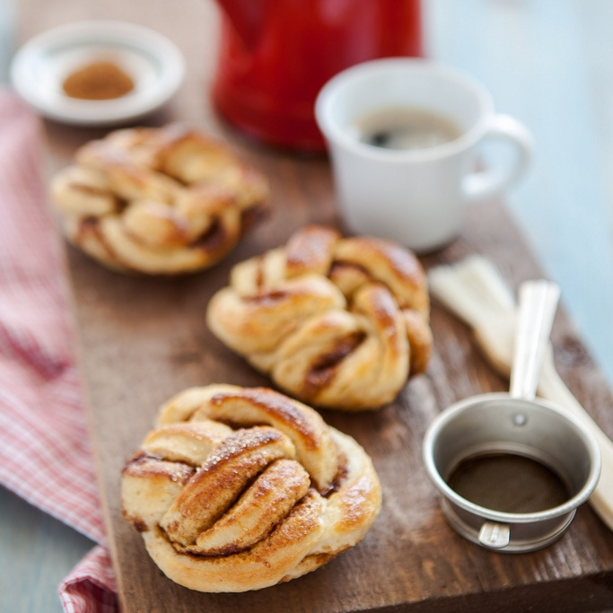 Embrace your Nordic side with a simple Kanelbullen breakfast bun, either from the shop or fresh from your oven.
