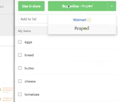 Groceries via pickup or delivery! -