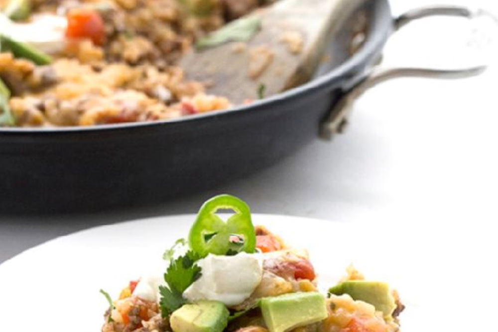Low Carb Mexican Cauliflower Rice Skillet Dinner