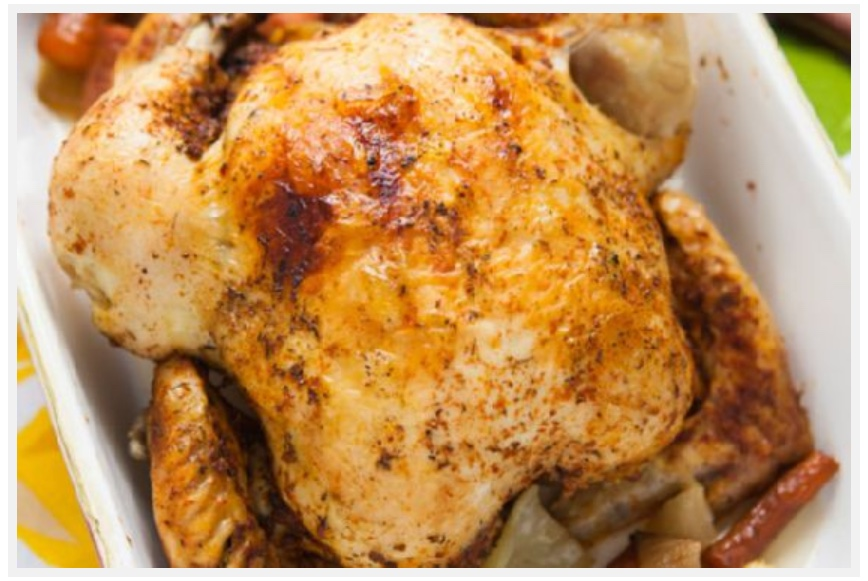 Slow Cooker Rotisserie-Style Chicken with Vegetables