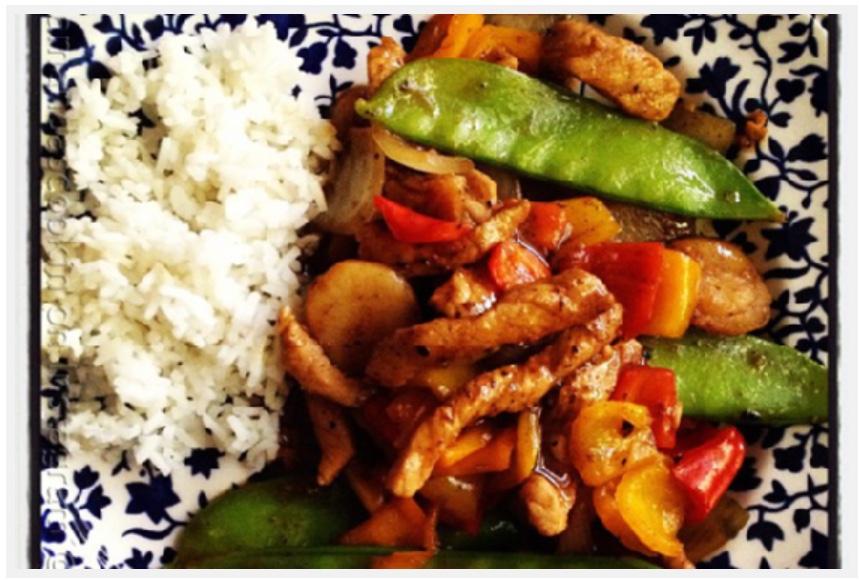 Pork Stir Fry over Rice