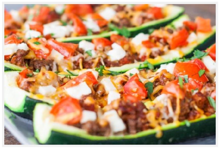 Stuffed Zucchini with Turkey