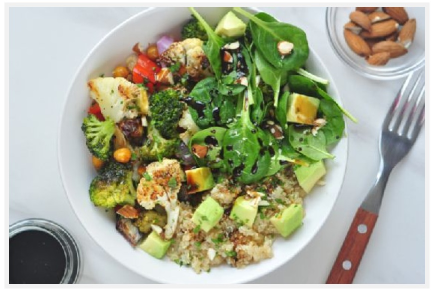 Quinoa and Roasted Veggie Salad Bowl