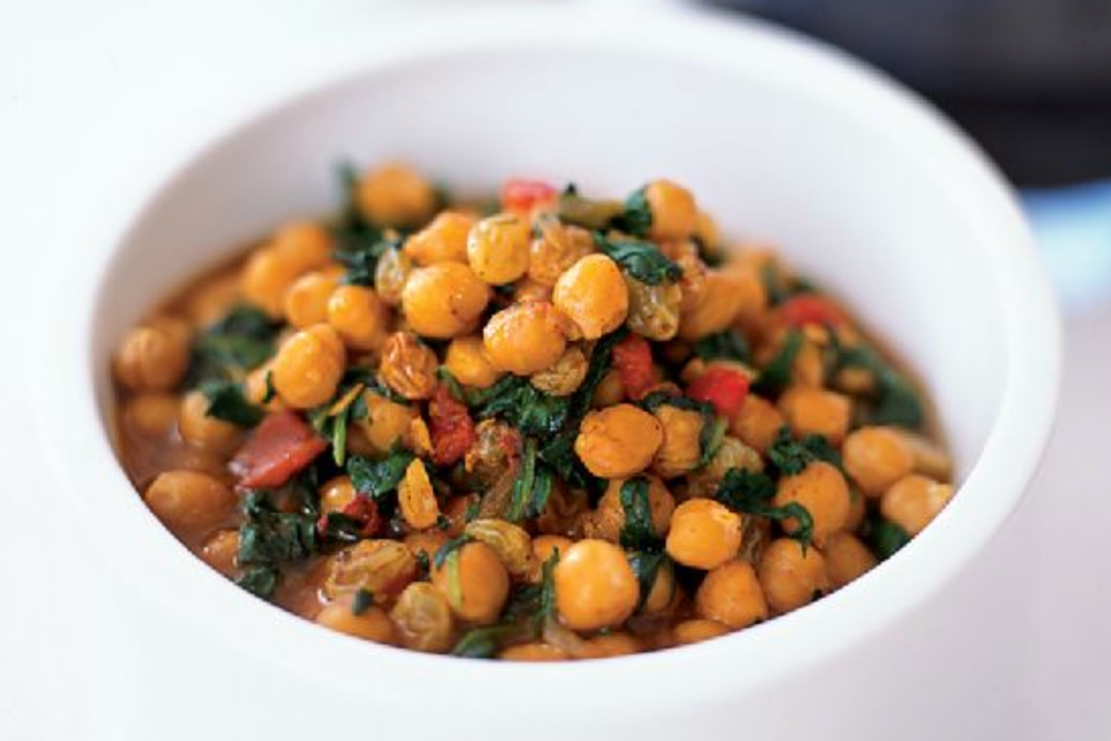 Jamaican Chickpea and Sweet Potato Bowl with Pineapple Salsa