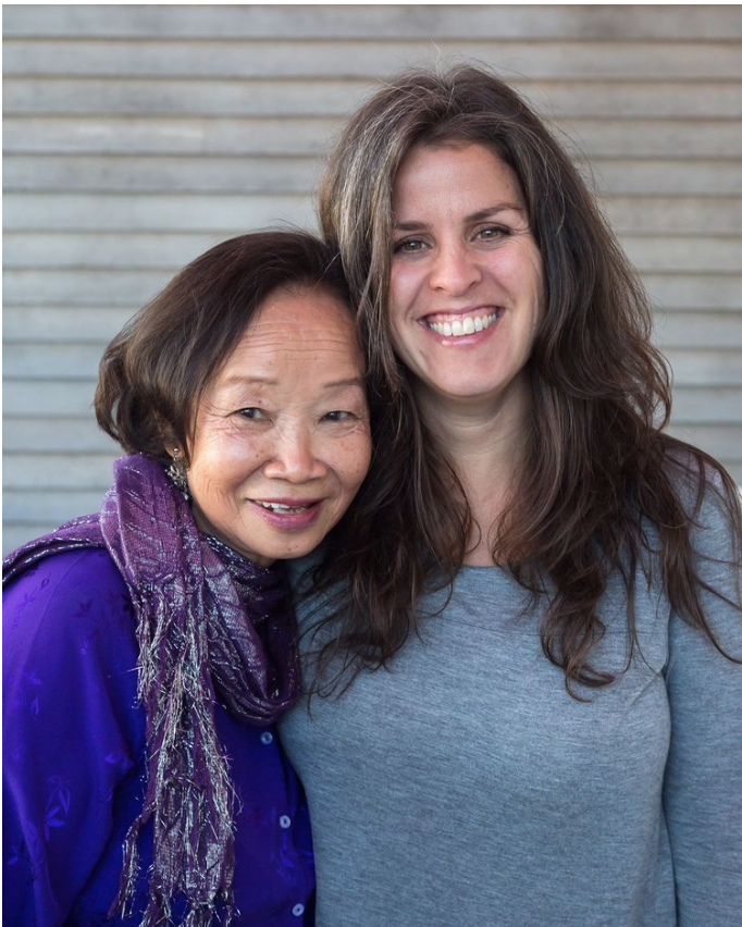 """Me and my wonderful client Mai Donohue at the book launch of her memoir """" Crossing the Bamboo Bridge: Memoirs of a Bad Luck Girl """" in Sept. 2016  (photo by Aileen Brown)"""