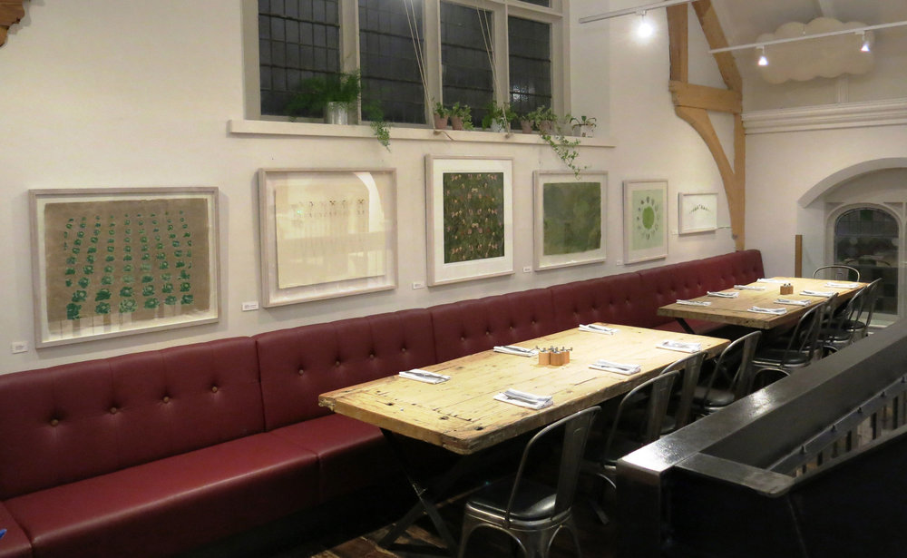 Cabbage to Clover exhibition at The River Cottage Canteen, Bristol