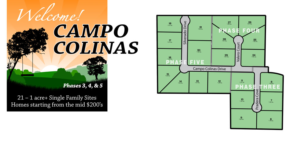 Campo Colinas - 1+ acre home sites located in Bertram, TX. This beautiful neighborhood has stunning country views with city amenities.