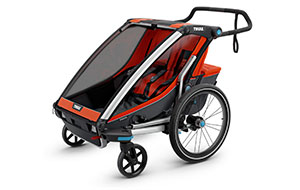 Trailers -  We stock Chariot / Thule Carrier brand trailers. Your child's comfort is assured with climate control venting, padded seats and the smooth ride of Chariot Adjustable Suspension.2 Hours        $234 Hours        $3324 Hours      $43Week            $170Month          $300