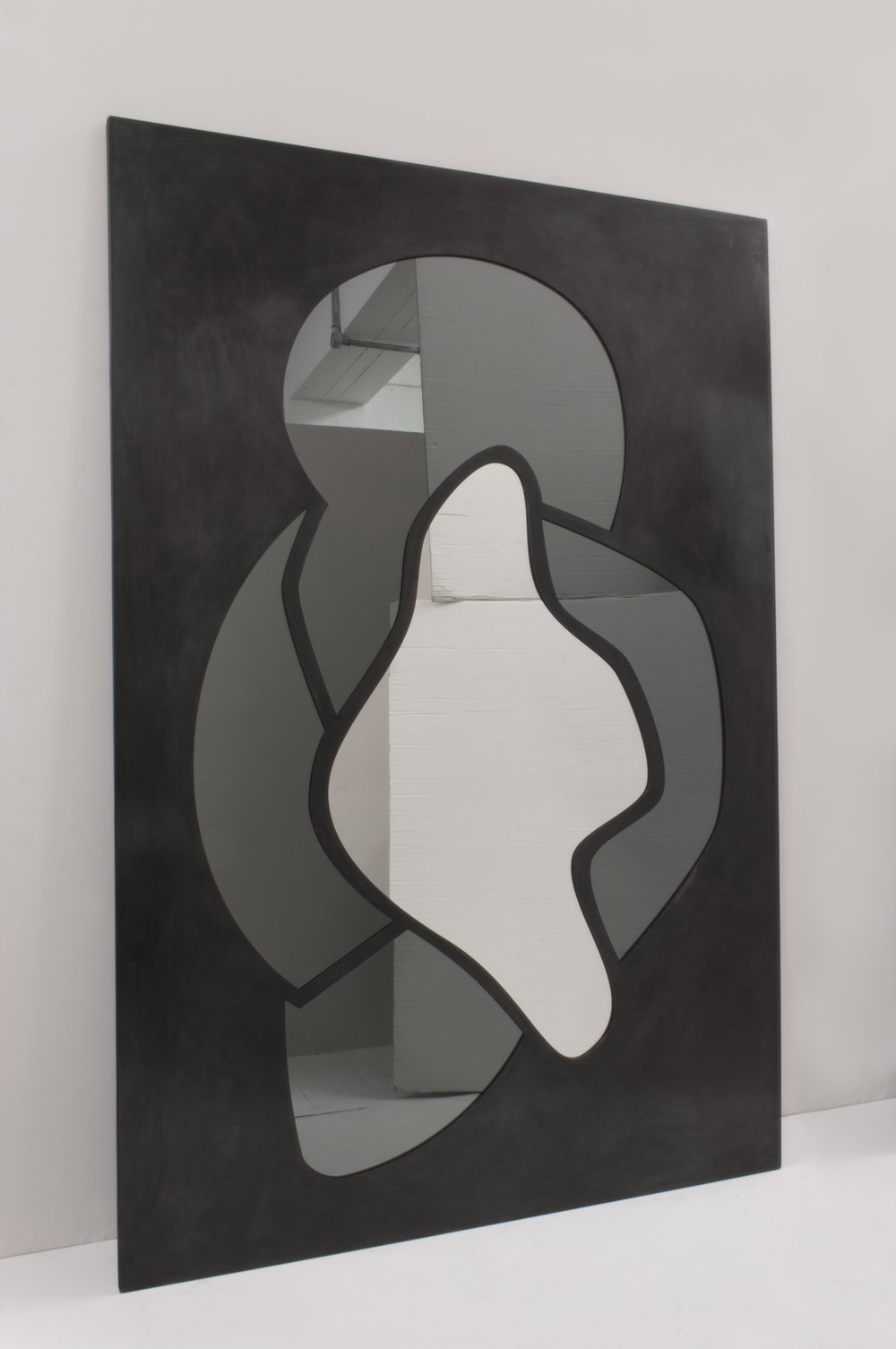 Collectible graphic mirror by c.a. walac.