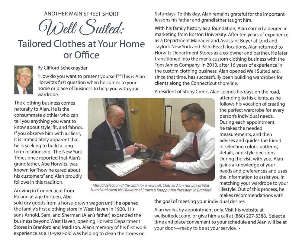 Well Suited: Tailored Clothes at Your Home or Office