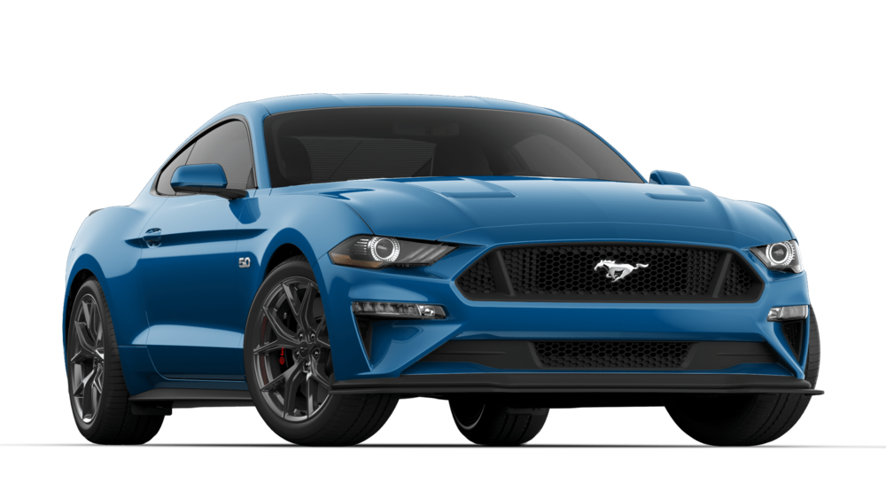 V8 GT COUPE 301A$45,139 - + VELOCITY BLUE+ 6-SPEED MANUAL TRANSMISSION+ GT PERFORMANCE PACKAGE 2+ QUAD TIP ACTIVE EXHAUST