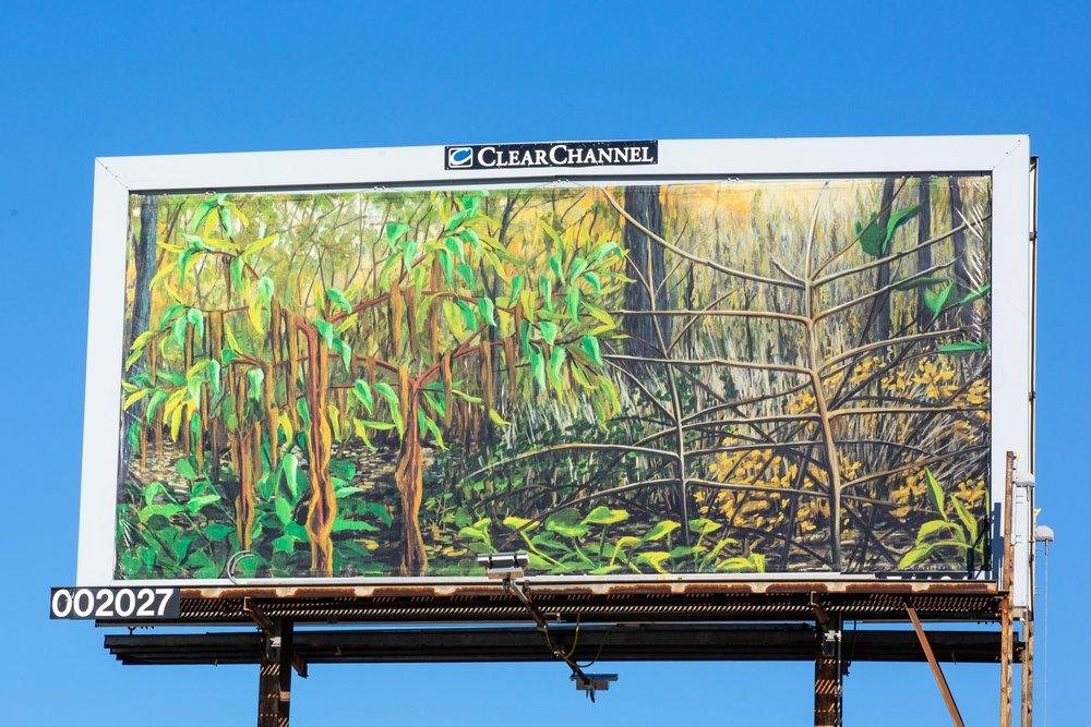 """""""Remnants: October""""  on billboard"""