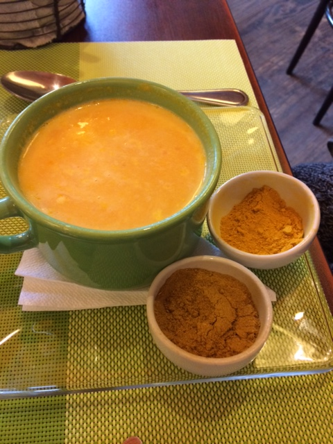 Squash soup, with curry, from a small restaurant in El Calafate