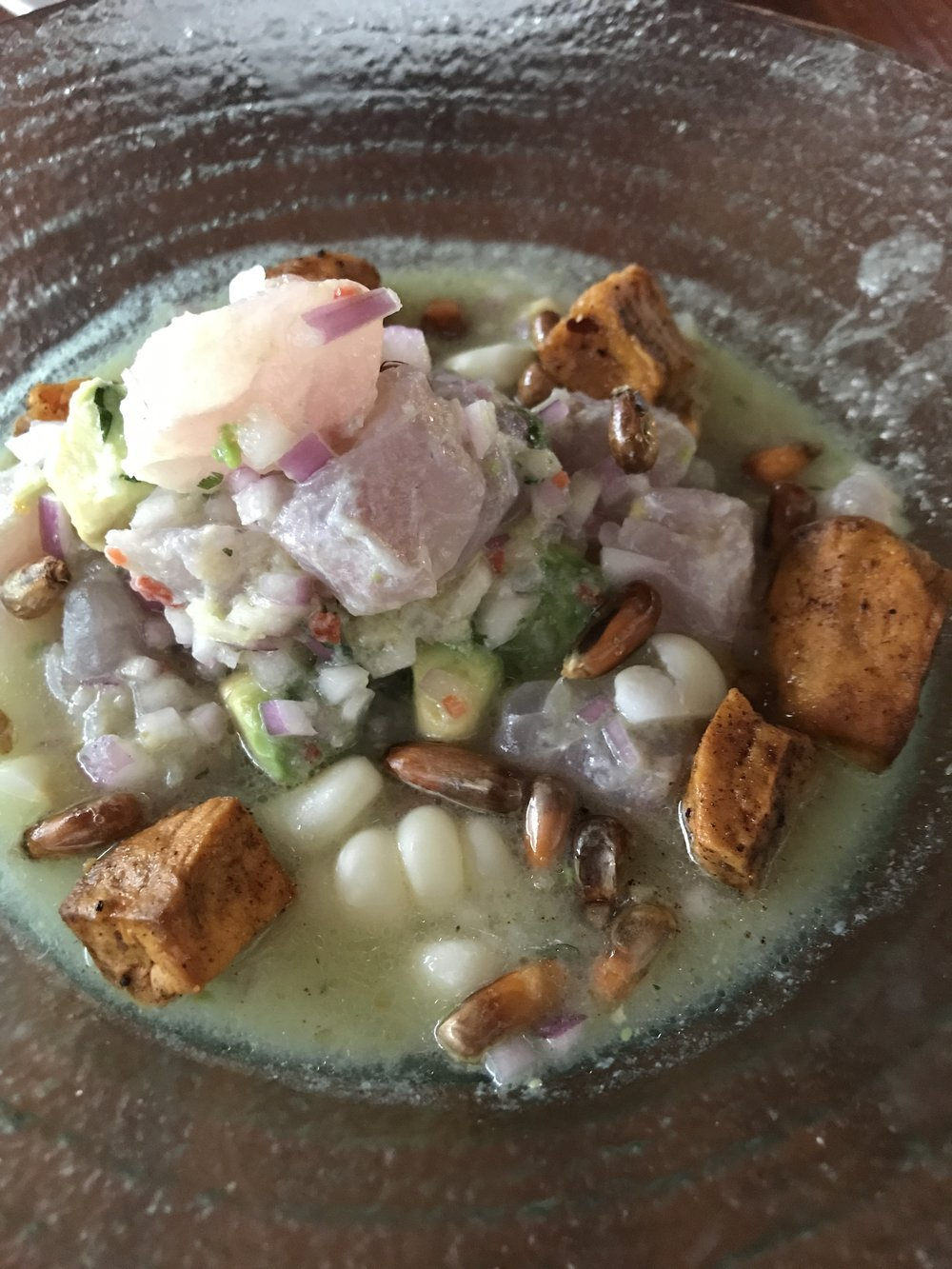 Ceviche, one of my favorite Peruvian dishes