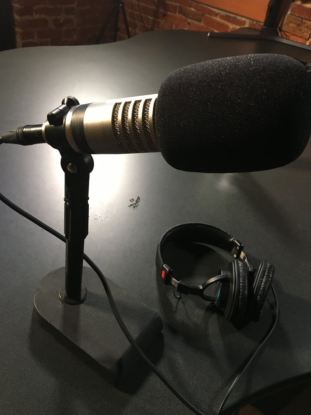 The thought of getting behind the microphone can paralyze us, at first.