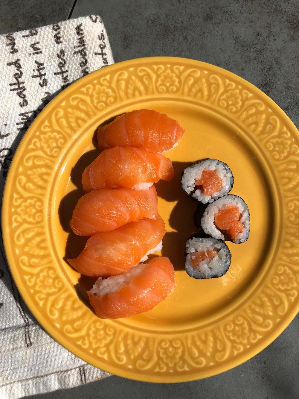 Sushi and sashimi are favorites!