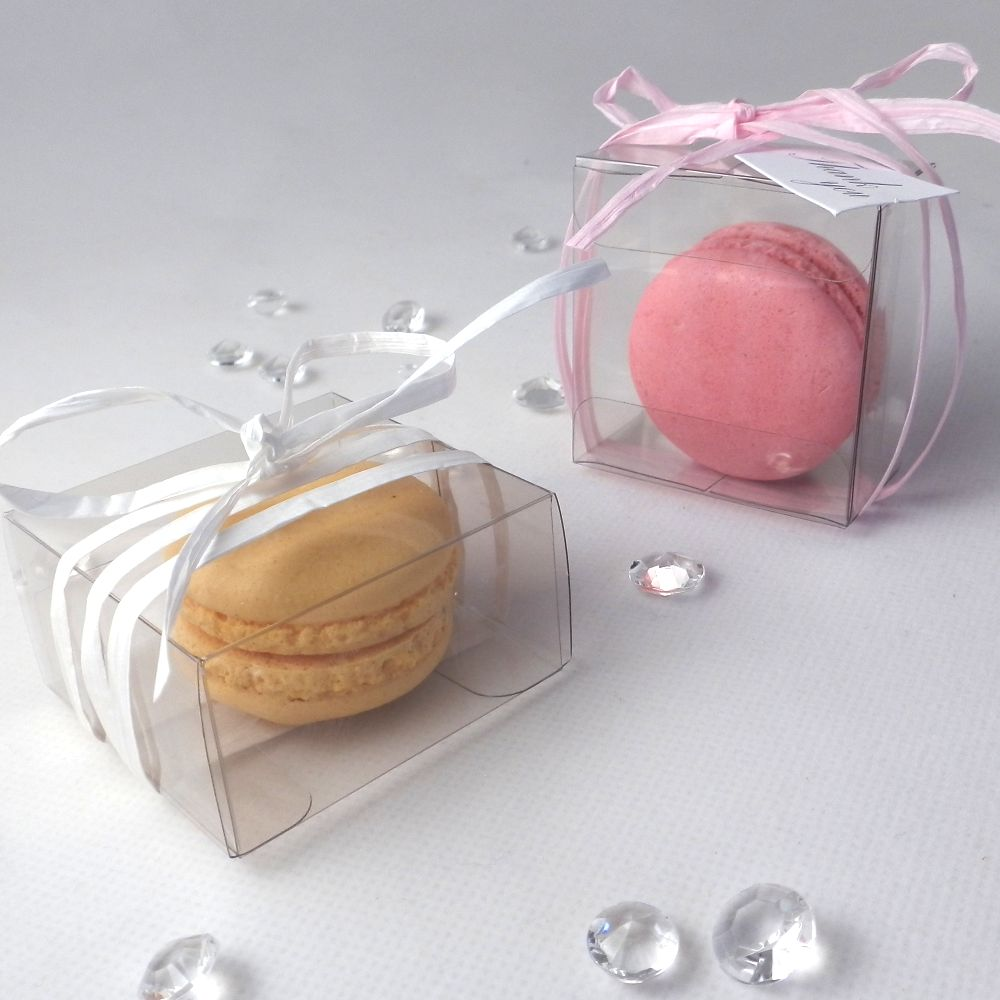 Little Macaron Boxes — Clear macaroon boxes for single macaroons ...