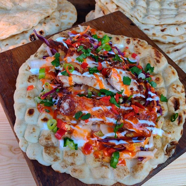 Another day, another chicken flatbread @boroughmarket until 5