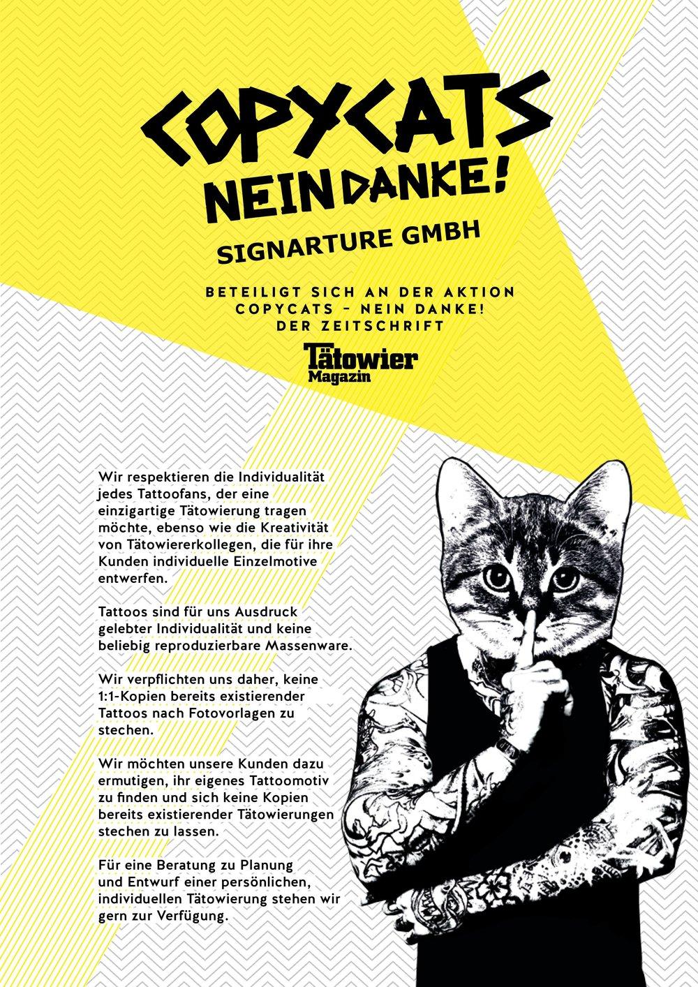 Copycats No Thanks | Signarture GmbH
