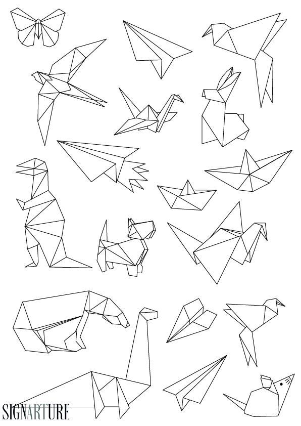 Origami Flash Tattoo Special   Signarture GmbH