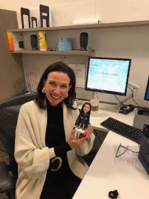 """What a delight to have my very own bobblehead, complete with cape. Loving this symbol of """"owning your power."""""""