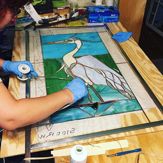 Jennifer Weeden-Black,  Great Blue Heron  (in progress)