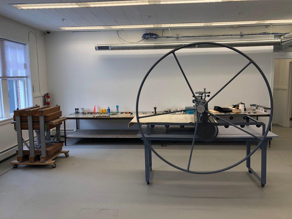 Printing presses in Building 34