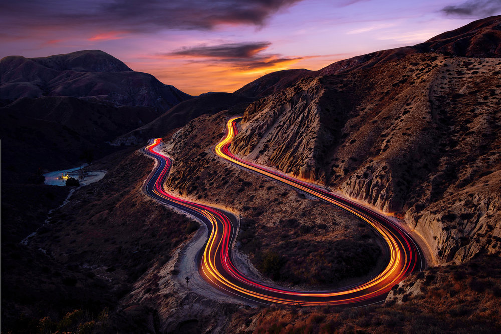"COMING AROUND  ""Grimes Canyon, California"