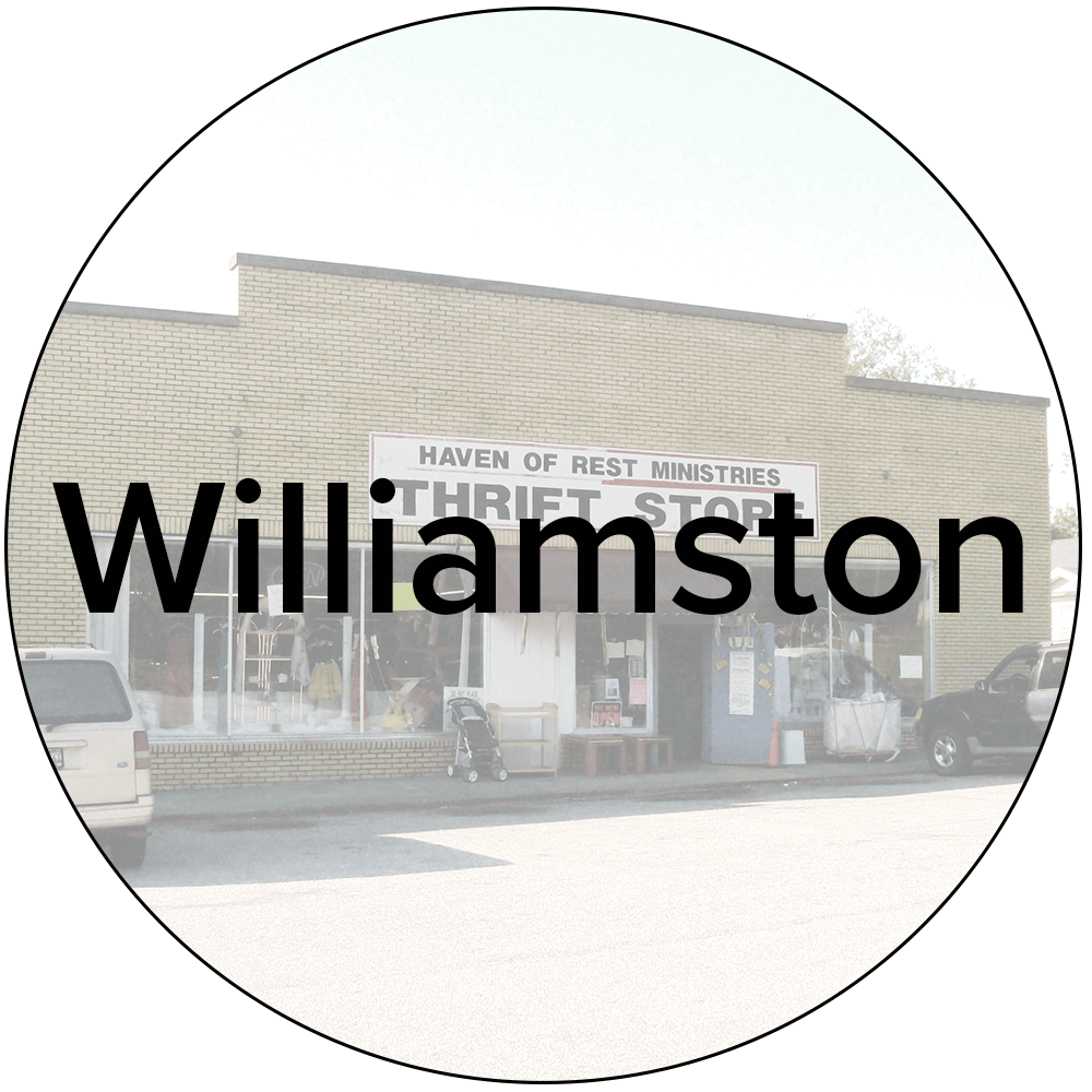 Williamston Store - 559 W. Main St. Williamston, SC 29697864-847-9721Mon-Sat: 9AM-5PM