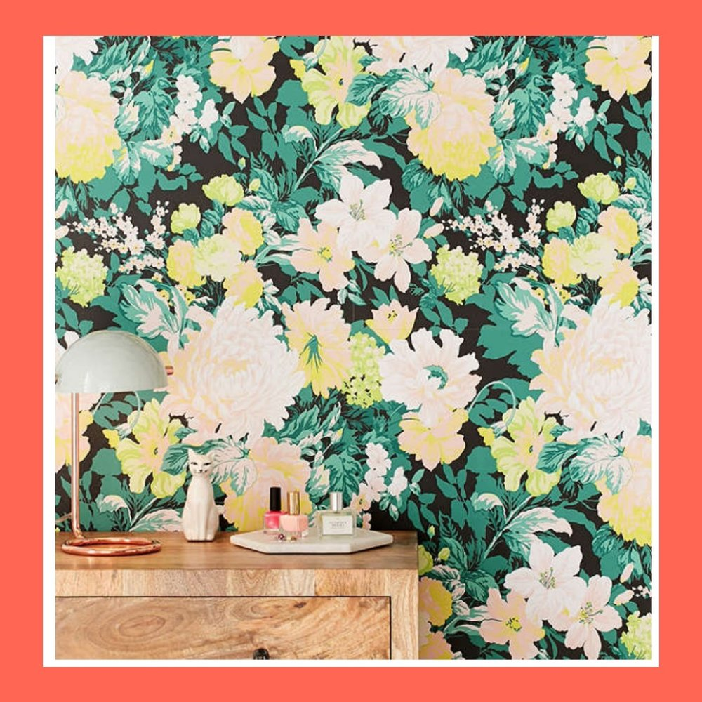 Floral Wallpaper - Urban Outfitters has so many good wallpapers that even my garage is going to be decorated!