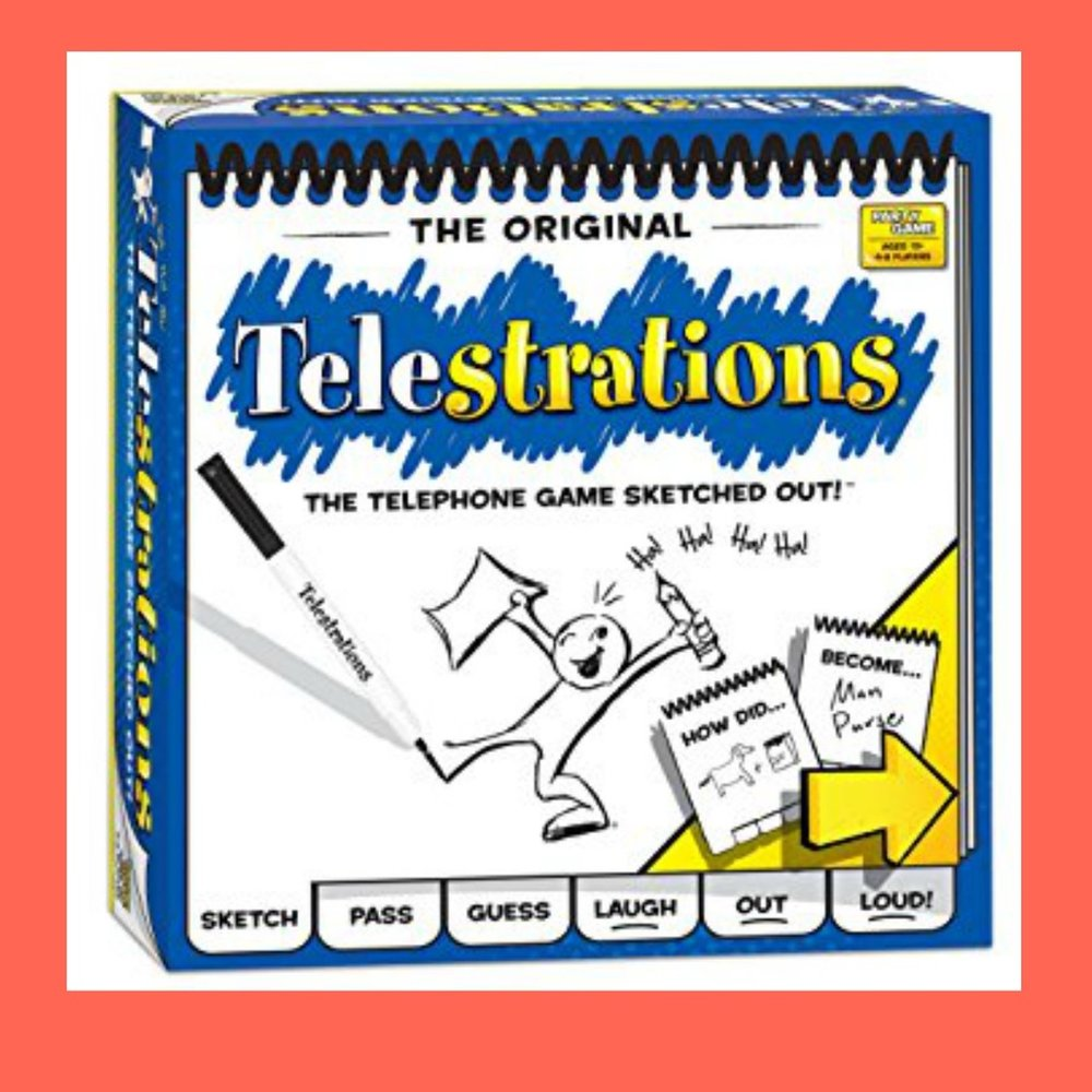 Telestrations - When telephone and pictionary have a baby...totally addictive game!