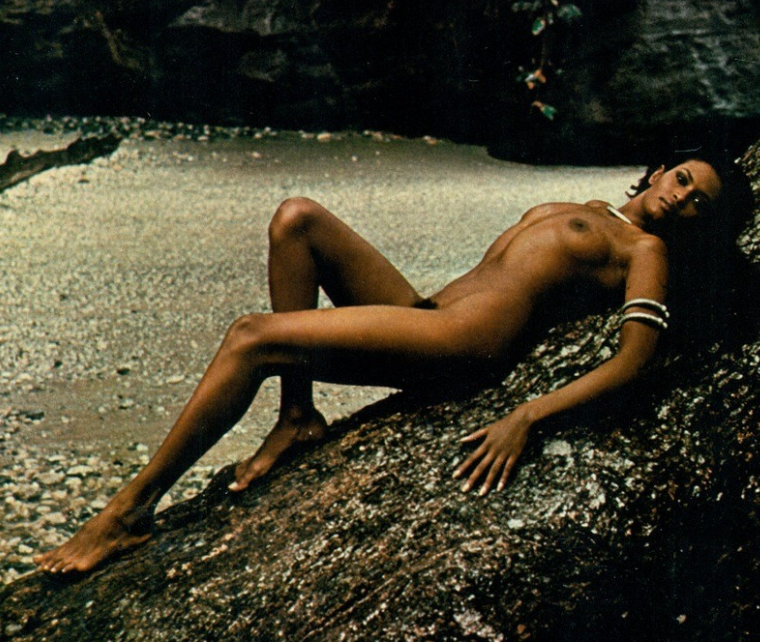 Zeudi Araya - Eritrean-born Italian actress and model, Zeudi Araya poses above for Playboy Italy's March 1974 issue, an issue for which she also appeared on the cover.