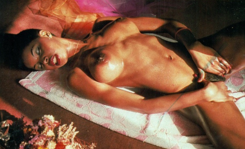 Camilla Donner - Central American glamour model, Camella Donner, depicted in Playmen's August 1977 issue.