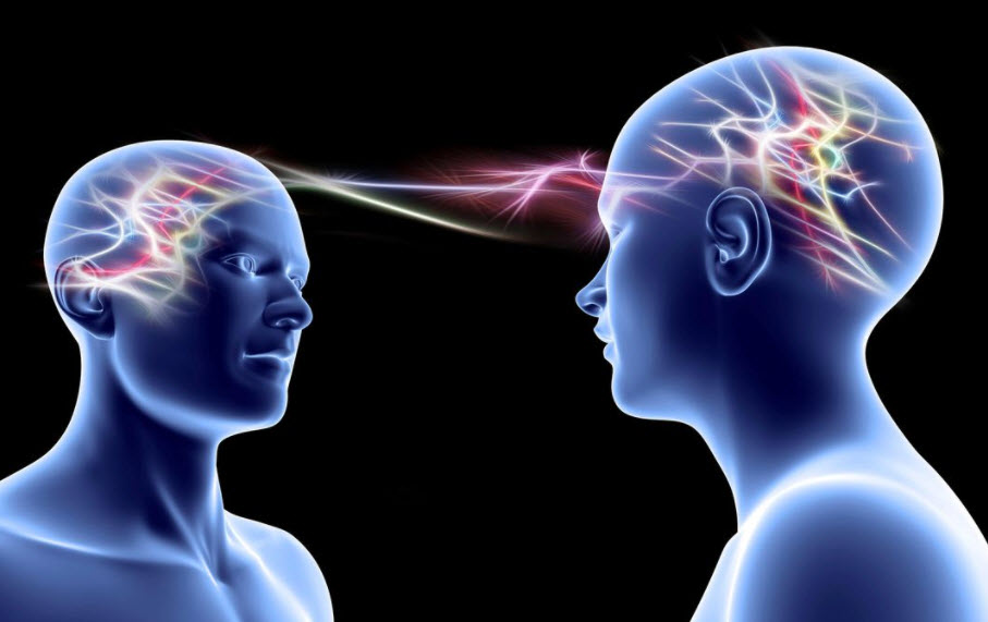 Telepathic Communication Between Two People
