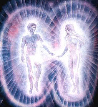 Two People in Love's Energy Brighter