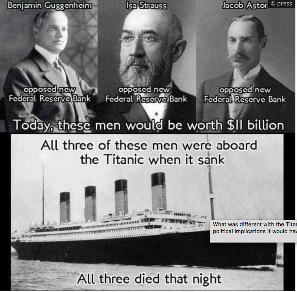 What was different with the Titanic was the huge political implications it would have after it sunk.