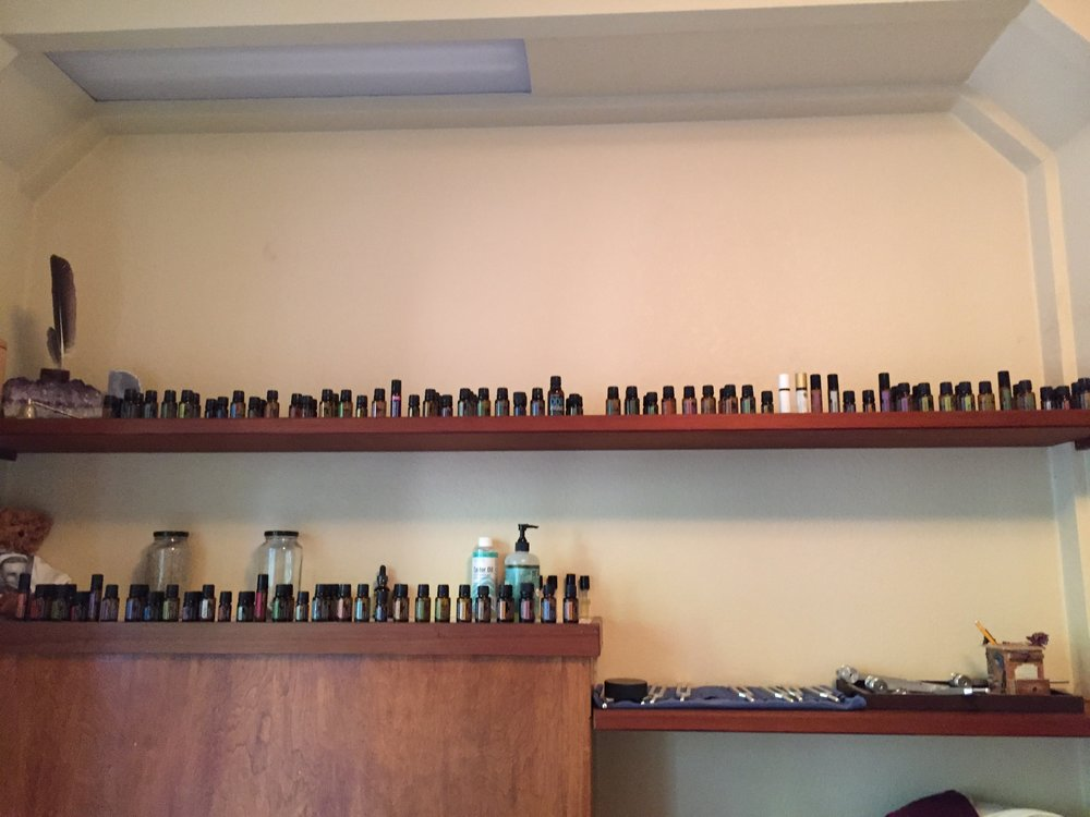 DoTerra Essential Oils for Treatments in Treatment Room