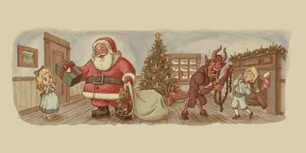 Santa Satan and Krampu