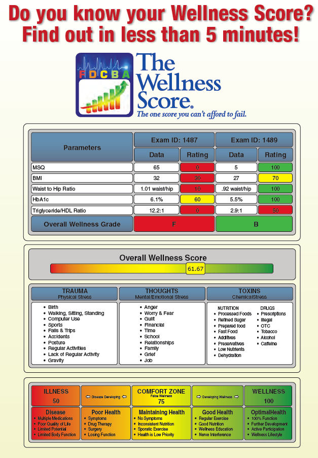 Find out your Wellness Score from the 8 Weeks to Wellness Program in San Diego