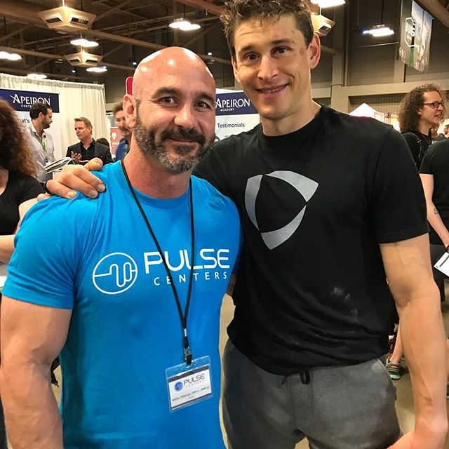 Ben Greenfield spend lots of time on our PULSE PEMF this weekend at PaleoFX. Had a cool time getting to talk with him for awhile. Check out his KION supps and Coffee. @pulsecenters  #pemf#pulsecenters @cellularexercise @bengreenfieldfitness