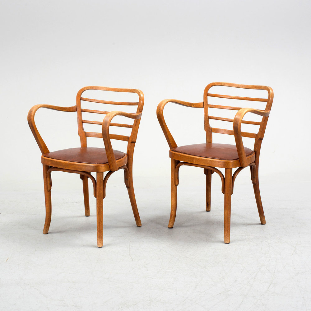 Rare Thonet Armchair Designed By Josef Frank