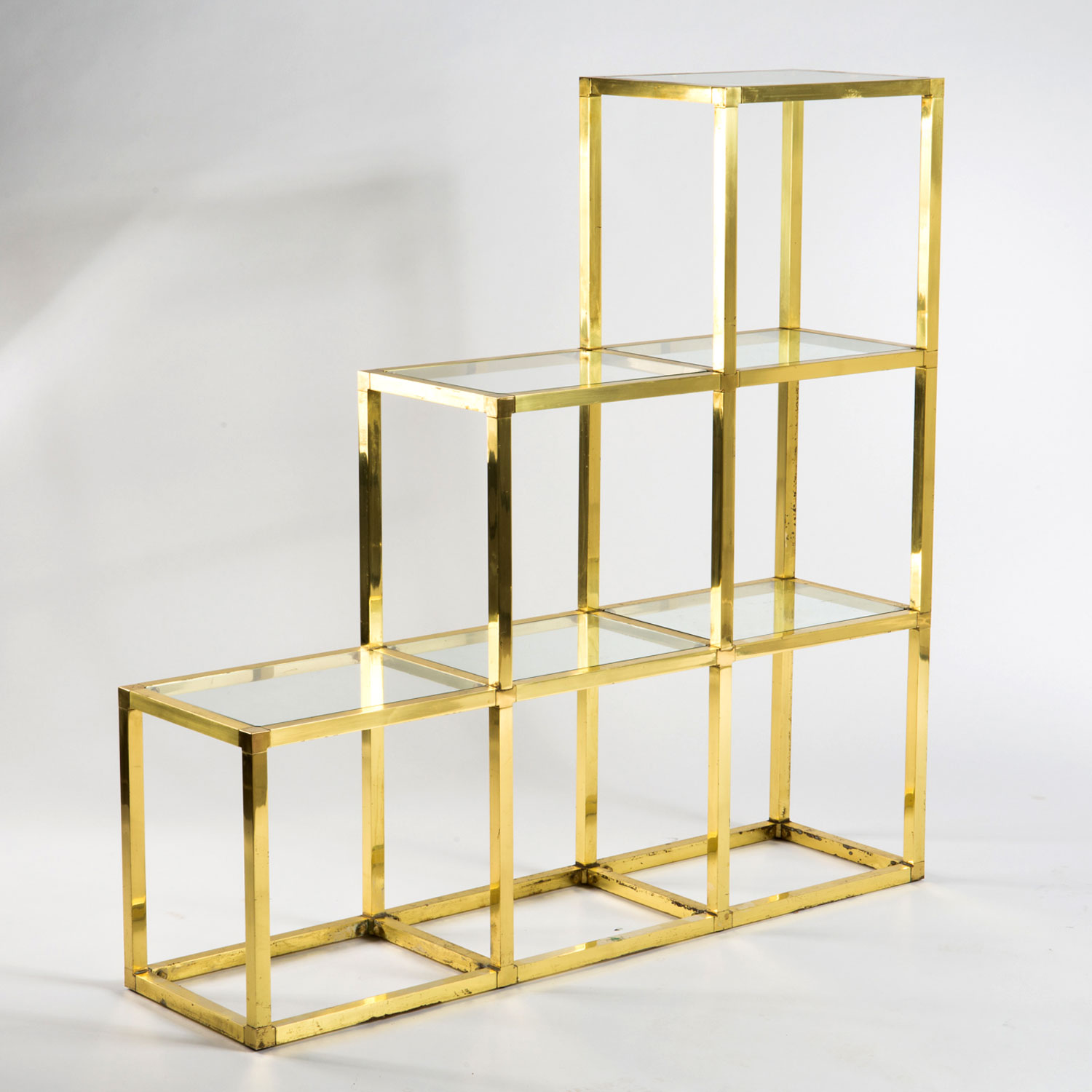 Italian Brass Shelves by Romeo Rega — NOMMAD Design and Antiques ...