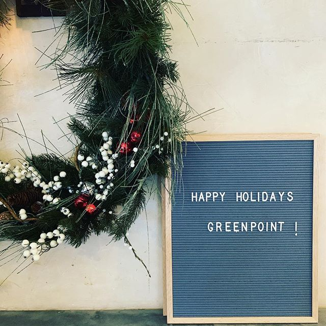 Happy Holidays Greenpoint! 🎅🏻💚