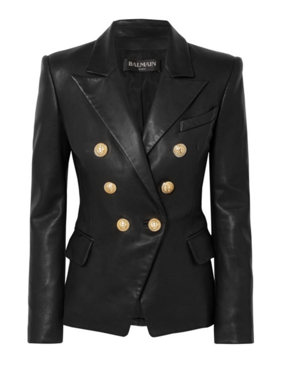 Balmain - Leather Blazer