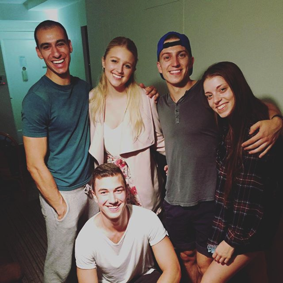 The cast after a day of filming.   Bound: The Series , 2016.